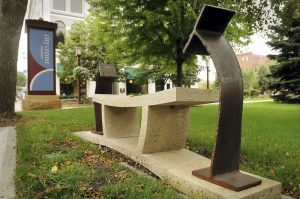 Community Action 9/11 sculpture purchased by All American Foods, Inc. located in the Mankato City Center